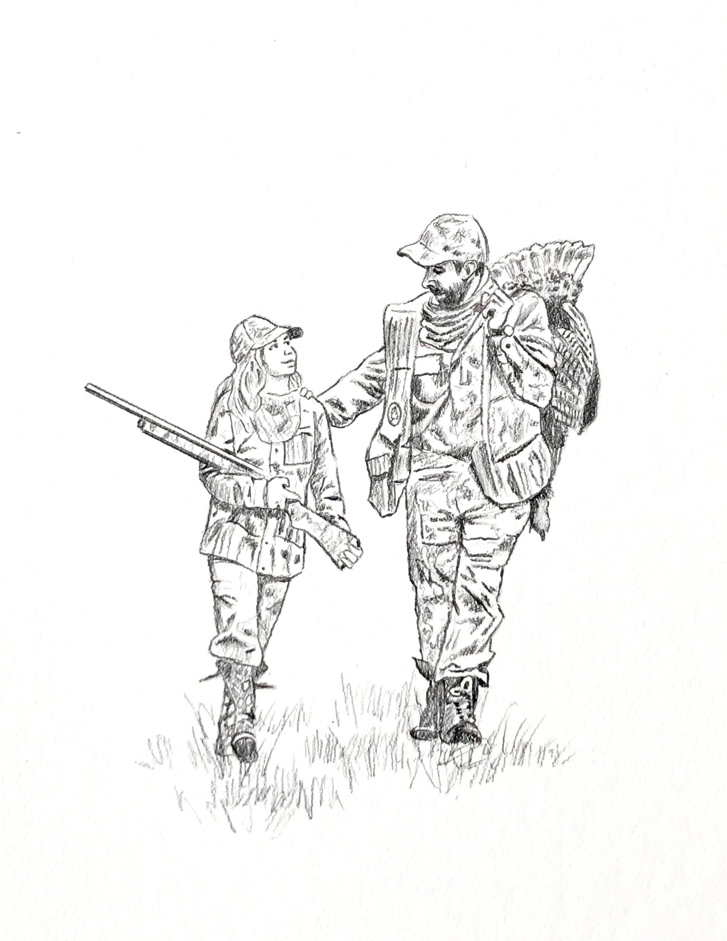 Printable Hunting Coloring Pages For Kids | 3300x2550